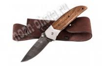 Охотничий складной нож Акула | дамасская сталь, рукоять: сапеле