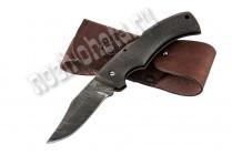 Охотничий складной нож Боец | дамасская сталь, рукоять: латекс