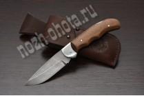 Охотничий складной нож Казак | дамасская сталь, рукоять: сапеле