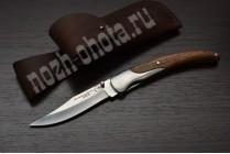 Охотничий складной нож Клык | кованая сталь 95Х18, рукоять: сапеле