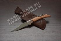 Охотничий складной нож Леший | кованая сталь 95Х18, рукоять: сапеле