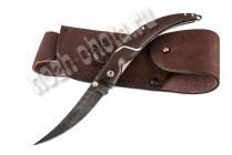 Охотничий складной нож Перо | дамасская сталь, рукоять: венге