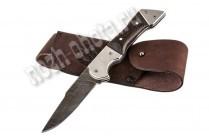 Охотничий складной нож Рекрут | дамасская сталь, рукоять: венге