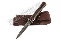 Охотничий складной нож Стрела | дамасская сталь, рукоять: венге