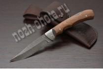 Охотничий складной нож Стриж | дамасская сталь, рукоять: сапеле
