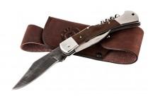 Складной нож Турист | дамасская сталь, рукоять: венге