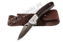 Охотничий складной нож Ворон | дамасская сталь, рукоять: венге