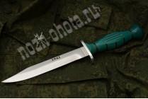"Нож разведчика ""НР-43"" | кованная сталь 95Х18, рукоять: зелёный граб"