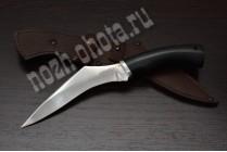 "Эксклюзивный нож ""Гарпия"" | кованая сталь 95Х18, рукоять: чёрный граб"