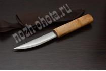 Якутский традиционный нож Быhах   кованая сталь 95Х18, рукоять: берёзовый кап