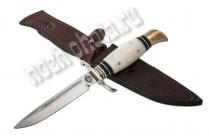 Финка НКВД | кованая сталь 95Х18, рукоять: рог лося, черный граб