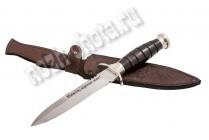 "Нож ""Десантник"" | кованая сталь 95Х18, рукоять: чёрный граб, мельхиор"