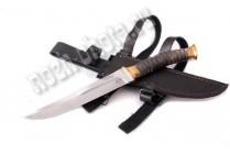 Казачий нож Пластунский | кованая сталь Х12МФ, рукоять: морёный дуб