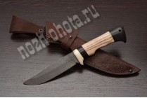 """Охотничий нож """"Тетерев""""   дамасская сталь, рукоять: ясень, граб"""