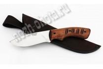 "Охотничий нож ""Орёл"" | сталь кованая Х12МФ, рукоять: цельнометаллическая, махагон"