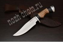 "Охотничий нож ""Дербник"" | сталь кованая Х12МФ, рукоять: граб, ясень"