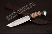 "Охотничий нож ""Шакал""   сталь кованая Х12МФ, рукоять: граб, ясень"