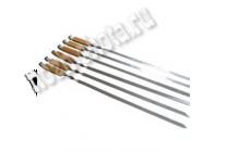 Шампур прямой с деревянной ручкой (бук)
