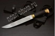 Казачий нож Пластунский | кованая сталь 95Х18, рукоять: граб, латунь