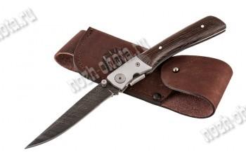 Охотничий складной нож Игла | дамасская сталь, рукоять: венге