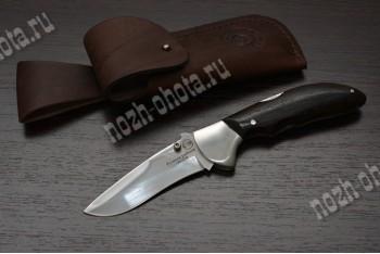 Охотничий складной нож Казак-3 | кованая сталь 95Х18, рукоять: венге