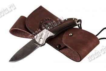Охотничий складной нож Колибри | дамасская сталь, рукоять: венге