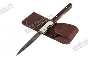 Охотничий складной нож Мексиканец | дамасская сталь, рукоять: венге