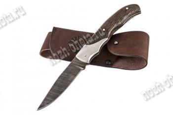 Охотничий складной нож Скаут | дамасская сталь, рукоять: венге