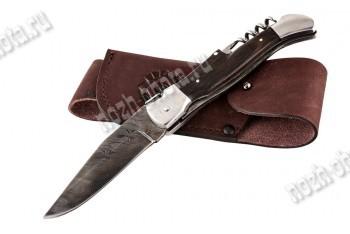 Охотничий складной нож Верный | дамасская сталь, рукоять: венге