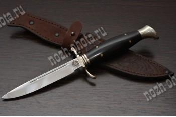 Финка НКВД | кованая сталь 95Х18, рукоять: чёрный граб