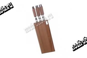 Доска для плоских  шампуров с деревянными ручками